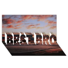 Stunning Sunset On The Beach 3 BEST BRO 3D Greeting Card (8x4)