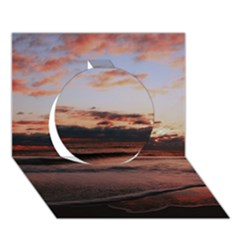 Stunning Sunset On The Beach 3 Circle 3D Greeting Card (7x5)