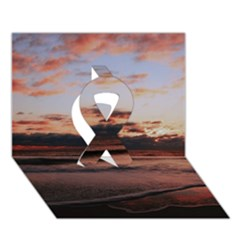 Stunning Sunset On The Beach 3 Ribbon 3d Greeting Card (7x5)