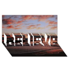 Stunning Sunset On The Beach 3 BELIEVE 3D Greeting Card (8x4)