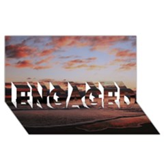 Stunning Sunset On The Beach 3 ENGAGED 3D Greeting Card (8x4)