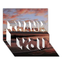 Stunning Sunset On The Beach 3 THANK YOU 3D Greeting Card (7x5)