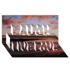 Stunning Sunset On The Beach 3 Laugh Live Love 3D Greeting Card (8x4)