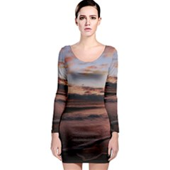 Stunning Sunset On The Beach 3 Long Sleeve Bodycon Dresses