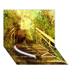 Up Stairs Heart Bottom 3d Greeting Card (7x5)