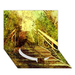 Up Stairs Circle Bottom 3D Greeting Card (7x5)