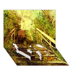 Up Stairs LOVE Bottom 3D Greeting Card (7x5)