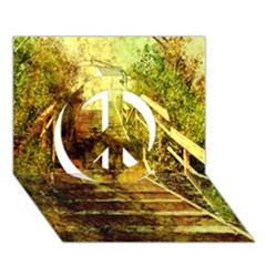 Up Stairs Peace Sign 3d Greeting Card (7x5)
