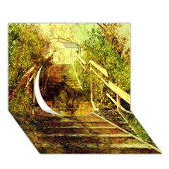 Up Stairs Circle 3D Greeting Card (7x5)