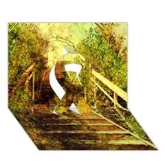 Up Stairs Ribbon 3d Greeting Card (7x5)