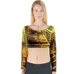 Up Stairs Long Sleeve Crop Top