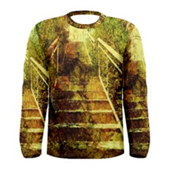 Up Stairs Men s Long Sleeve T Shirts