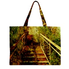 Up Stairs Zipper Tiny Tote Bags