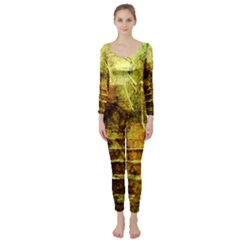 Up Stairs Long Sleeve Catsuit