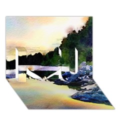Stunning Nature Evening I Love You 3D Greeting Card (7x5)