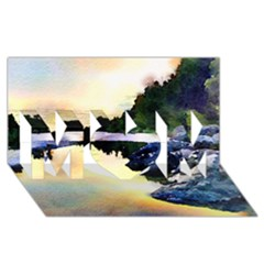 Stunning Nature Evening Mom 3d Greeting Card (8x4)