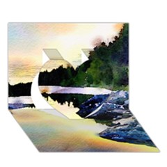 Stunning Nature Evening Heart 3D Greeting Card (7x5)