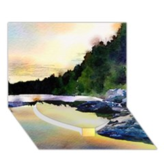 Stunning Nature Evening Heart Bottom 3D Greeting Card (7x5)