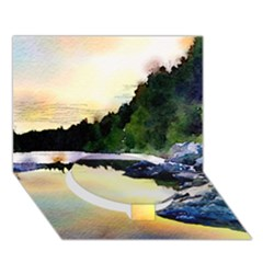 Stunning Nature Evening Circle Bottom 3D Greeting Card (7x5)