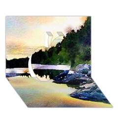 Stunning Nature Evening Apple 3d Greeting Card (7x5)