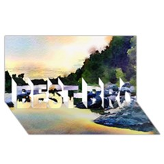 Stunning Nature Evening BEST BRO 3D Greeting Card (8x4)