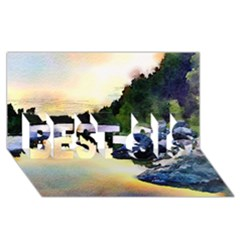 Stunning Nature Evening BEST SIS 3D Greeting Card (8x4)