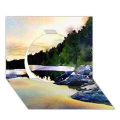 Stunning Nature Evening Circle 3d Greeting Card (7x5)
