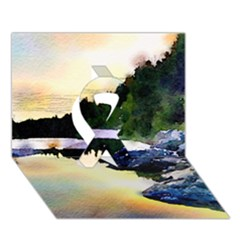 Stunning Nature Evening Ribbon 3d Greeting Card (7x5)