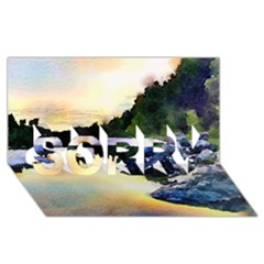 Stunning Nature Evening SORRY 3D Greeting Card (8x4)