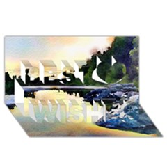 Stunning Nature Evening Best Wish 3d Greeting Card (8x4)