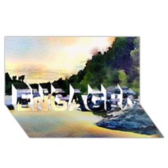 Stunning Nature Evening ENGAGED 3D Greeting Card (8x4)