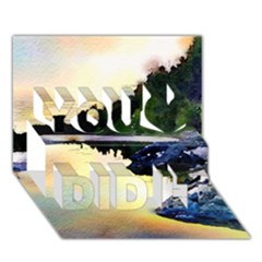 Stunning Nature Evening You Did It 3D Greeting Card (7x5)