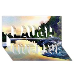 Stunning Nature Evening Laugh Live Love 3d Greeting Card (8x4)