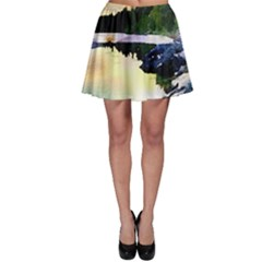Stunning Nature Evening Skater Skirts