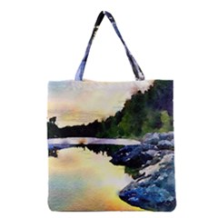 Stunning Nature Evening Grocery Tote Bags
