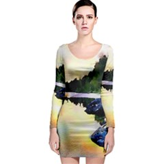 Stunning Nature Evening Long Sleeve Bodycon Dresses
