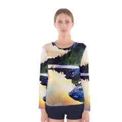 Stunning Nature Evening Women s Long Sleeve T-shirts