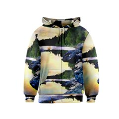 Stunning Nature Evening Kids Zipper Hoodies