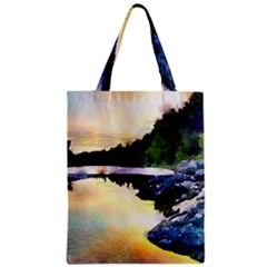 Stunning Nature Evening Zipper Classic Tote Bags