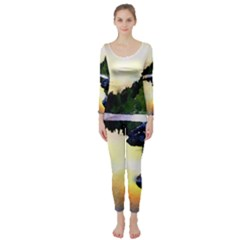 Stunning Nature Evening Long Sleeve Catsuit