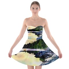 Stunning Nature Evening Strapless Bra Top Dress