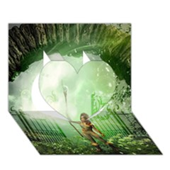 The Gate In The Magical World Heart 3D Greeting Card (7x5)