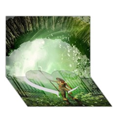 The Gate In The Magical World Heart Bottom 3D Greeting Card (7x5)