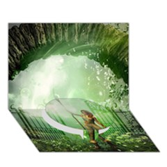 The Gate In The Magical World Circle Bottom 3D Greeting Card (7x5)