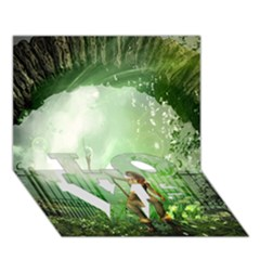 The Gate In The Magical World LOVE Bottom 3D Greeting Card (7x5)