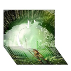 The Gate In The Magical World Apple 3d Greeting Card (7x5)