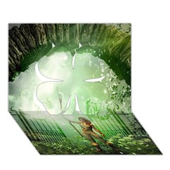 The Gate In The Magical World Clover 3D Greeting Card (7x5)