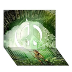 The Gate In The Magical World Peace Sign 3d Greeting Card (7x5)