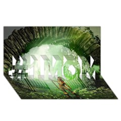 The Gate In The Magical World #1 Mom 3d Greeting Cards (8x4)