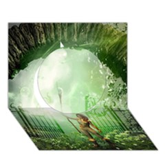 The Gate In The Magical World Circle 3d Greeting Card (7x5)